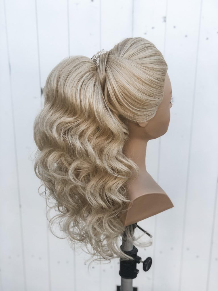 High Bridal Ponytail